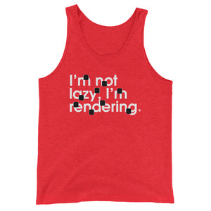 I'm Not Lazy, I'm Rendering - Green Screen Apparel Tank Top