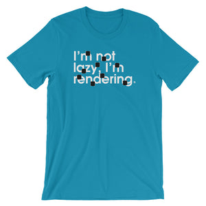 I'm Not Lazy, I'm Rendering (brackets) - Green Screen Apparel T-Shirt