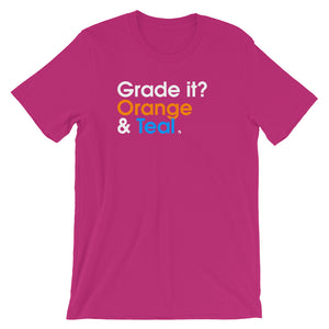 Grade it? Orange & Teal - Green Screen Apparel T-Shirt