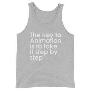 The Key To Animation Is To Take It Step By Step - Green Screen Apparel Tank Top