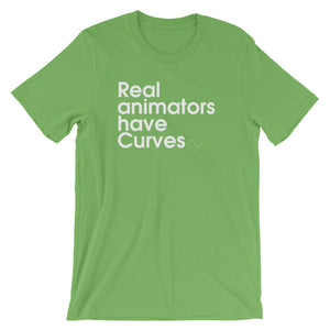 Real Animators Have Curves - Green Screen Apparel T-Shirt