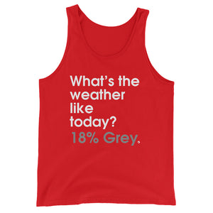 What's The Weather Like Today? 18% Grey - Green Screen Apparel Tank Top