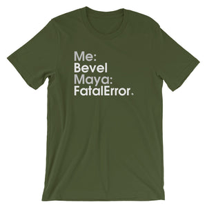 Me:Bevel Maya:FatalError - Green Screen Apparel T-Shirt