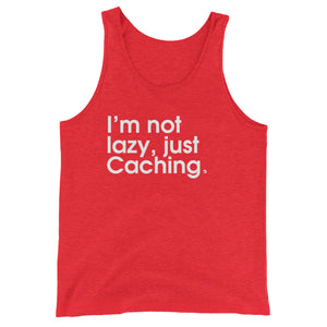 I'm Not Lazy, Just Caching- Green Screen Apparel Tank Top