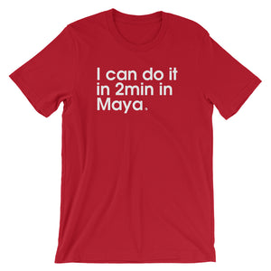 I Can Do It In 2min In Maya - Green Screen Apparel T-Shirt