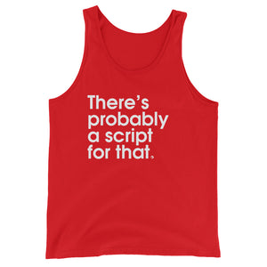 There's Probably a Script For That - Green Screen Apparel Tank Top