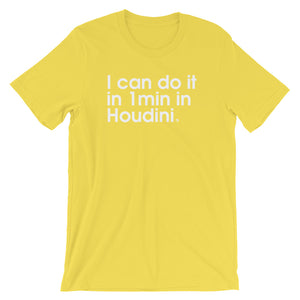 I Can Do It In 1min In Houdini. - Green Screen Apparel T-Shirt