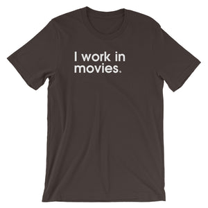 I Work In Movies - Green Screen Apparel T-Shirt