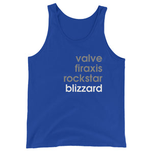 Valve Firaxis Rockstar Blizzard - Green Screen Apparel Tank Top