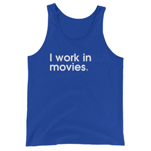 I Work In Movies - Green Screen Apparel Tank Top