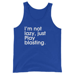 I'm Not Lazy, Just Play Blasting - Green Screen Apparel Tank Top
