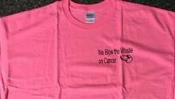 We Blow The Whistle on Cancer T-shirts - The Sports Loft