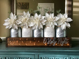 Silver O Holy Night Christmas Centerpiece