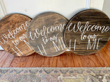 Round Welcome Door Plaque with Interchangeable Signs