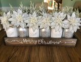Silver Merry Christmas Centerpiece
