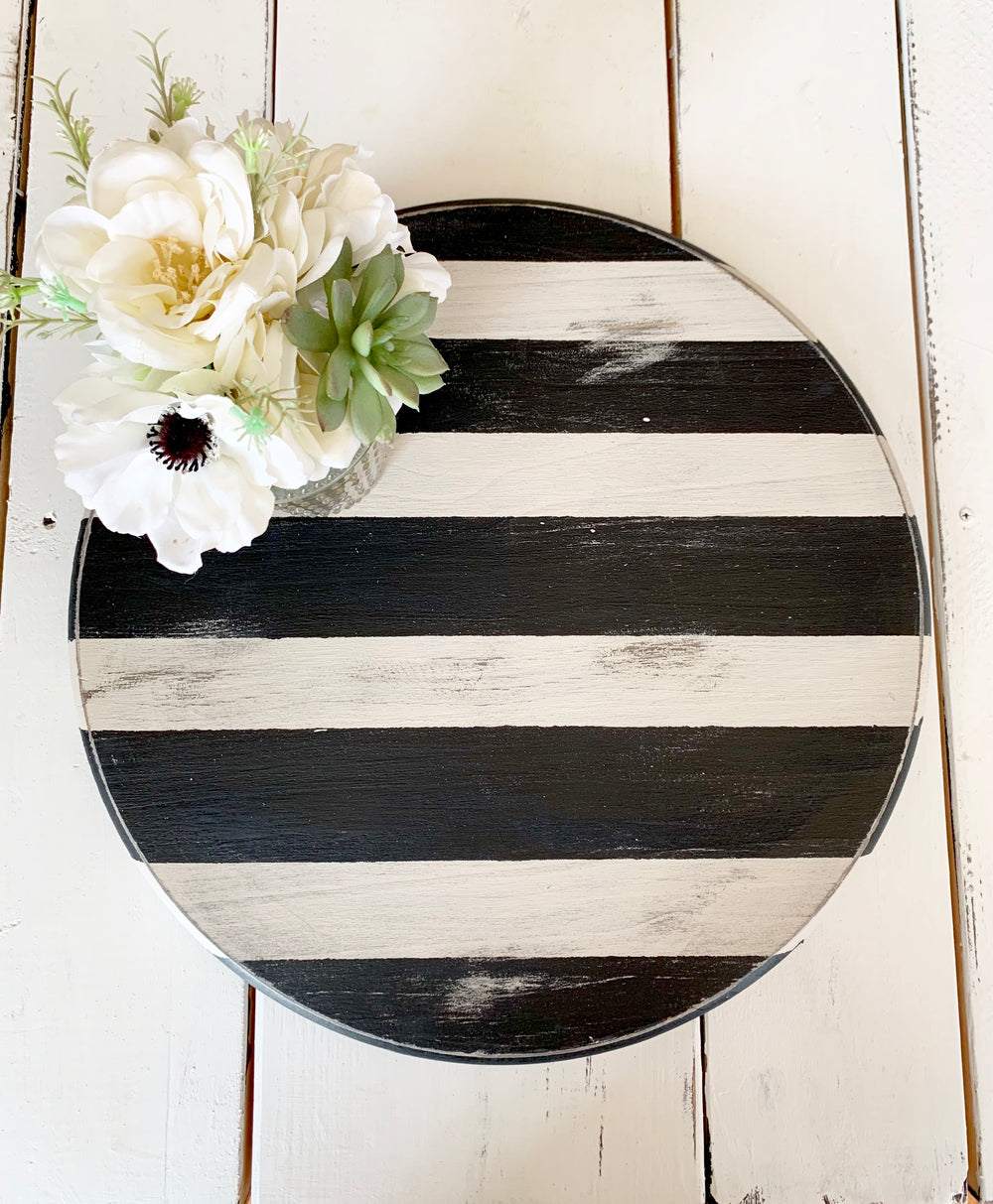 Striped Lazy Susan