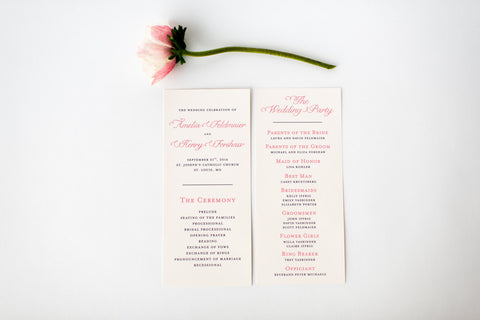 amelia wedding programs (sets of 10) // lola louie paperie - lola louie paperie, stationery - paper goods, stationery - wedding stationery, stationery - wedding invitations, stationery - thank you cards, stationery - bridesmaid cards