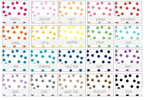 confetti dot lined envelopes (20 color options) - sets of 10 - lola louie paperie, stationery - paper goods, stationery - wedding stationery, stationery - wedding invitations, stationery - thank you cards, stationery - bridesmaid cards