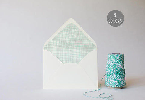 crosshatch lined envelopes (9 color options) - sets of 10 - lola louie paperie, stationery - paper goods, stationery - wedding stationery, stationery - wedding invitations, stationery - thank you cards, stationery - bridesmaid cards