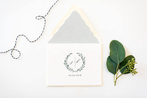 james greenery thank you cards // wedding thank you cards / personalized / stationery / card set / winery olive branch greenery rustic - lola louie paperie