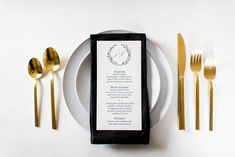 james wedding menus (sets of 10) - lola louie paperie, stationery - paper goods, stationery - wedding stationery, stationery - wedding invitations, stationery - thank you cards, stationery - bridesmaid cards