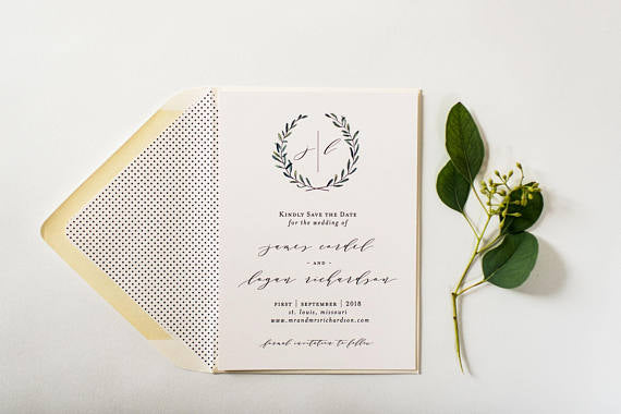 james save the date invitations - customizable (sets of 10) - lola louie paperie, stationery - paper goods, stationery - wedding stationery, stationery - wedding invitations, stationery - thank you cards, stationery - bridesmaid cards