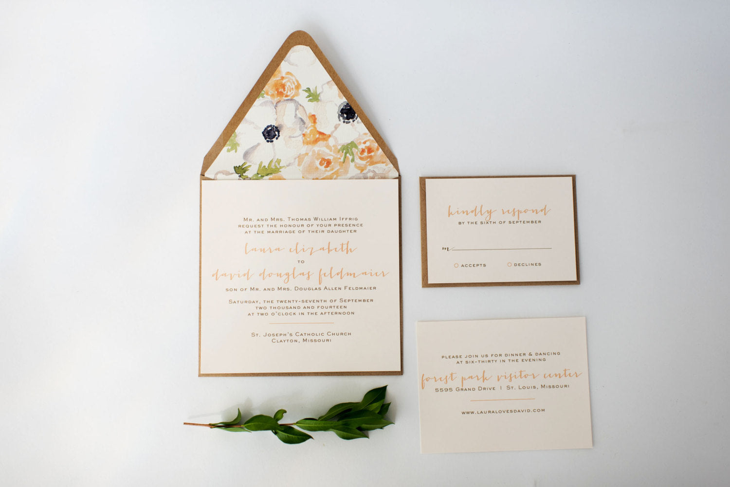 laura wedding invitation // printable option / simple rustic ...