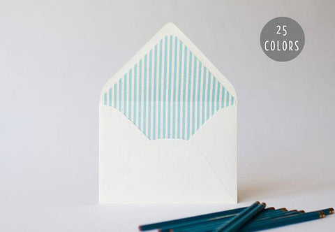 seersucker lined envelopes (25 color options) - sets of 10 - lola louie paperie, stationery - paper goods, stationery - wedding stationery, stationery - wedding invitations, stationery - thank you cards, stationery - bridesmaid cards