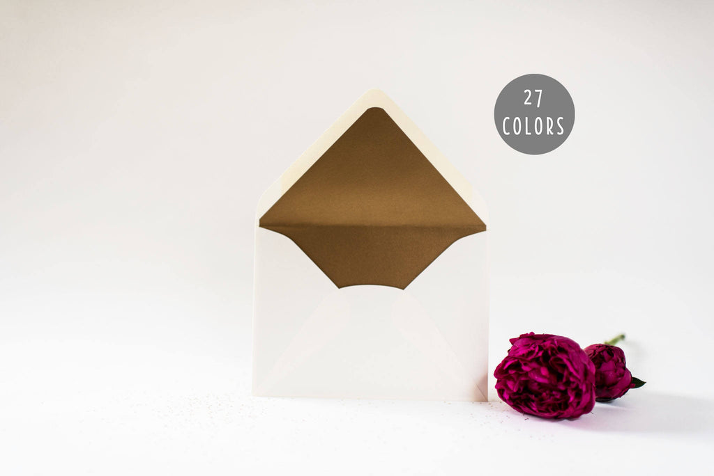 solid lined envelopes (25 color options) - sets of 10 - lola louie paperie, stationery - paper goods, stationery - wedding stationery, stationery - wedding invitations, stationery - thank you cards, stationery - bridesmaid cards