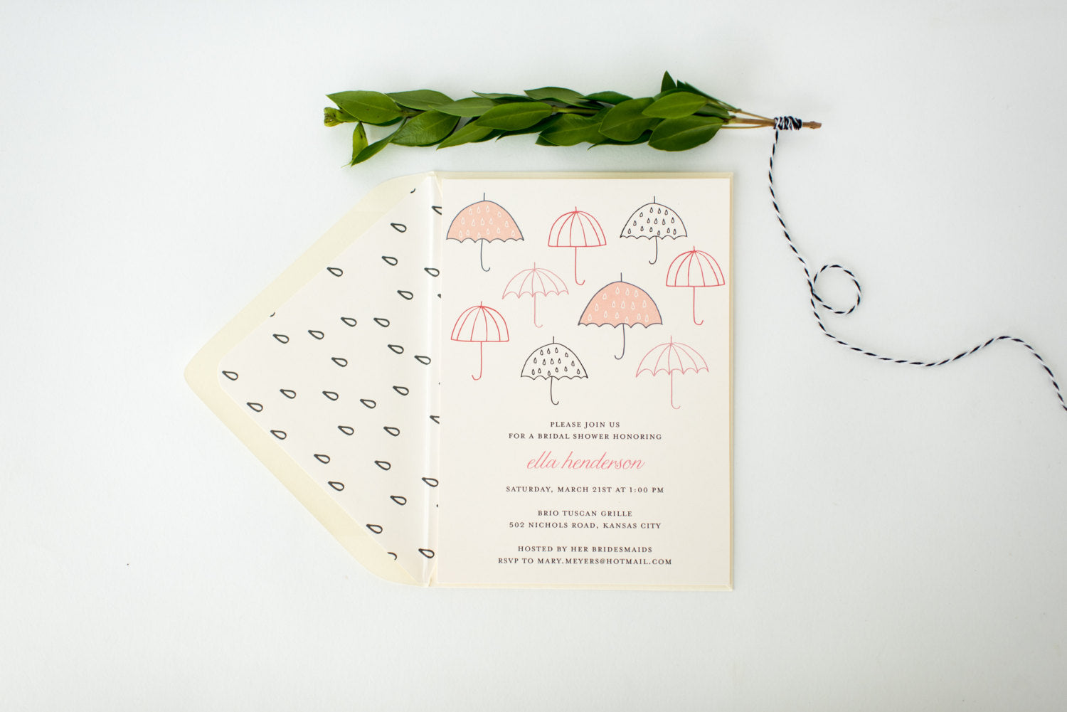 Umbrella bridal shower invitation customizable sets of 10 lola umbrella bridal shower invitation customizable sets of 10 lola louie paperie filmwisefo