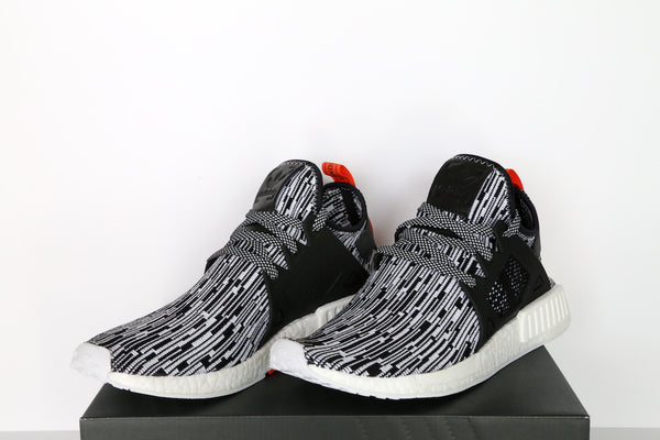 ee8a2364f6137 adidas NMD XR1 Primeknit Black White FastSole.co.uk