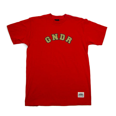 Grandeur 'GNDR' Red T-Shirt