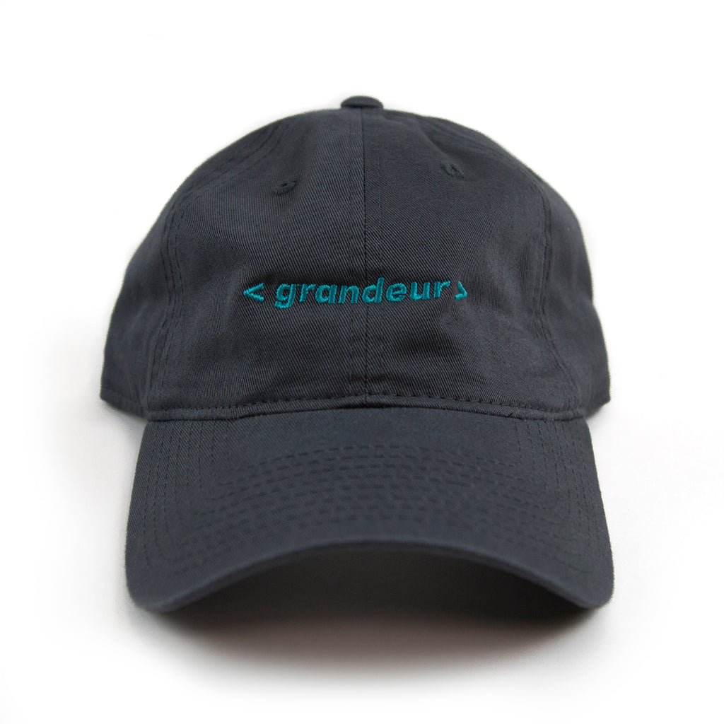 Grandeur Bar Logo Charcoal Polo Hat