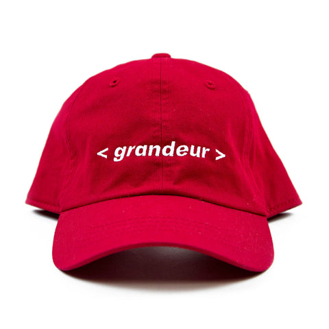 Grandeur Red Bar Logo Polo Hat