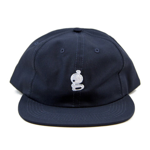 Grandeur 'g' Logo Non Structure Navy SnapBack  Hat