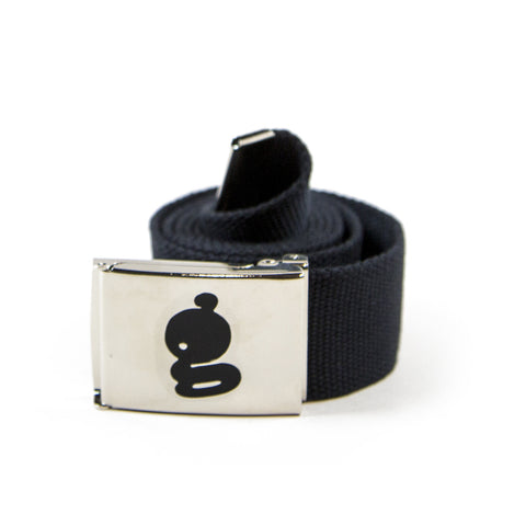 Black Logo Stainless Steel Belt