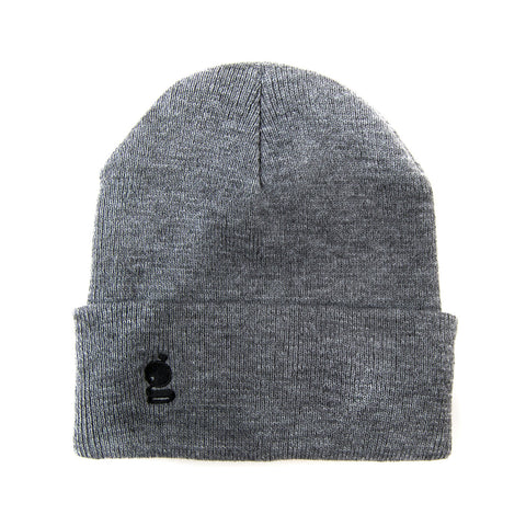 Grandeur Gray Beanie with Black 'g' Logo