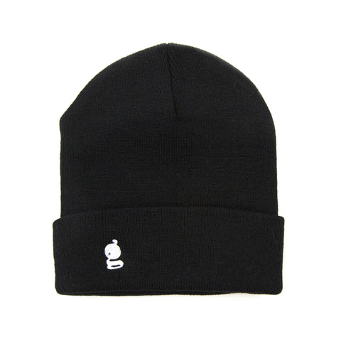 Grandeur Black Beanie with White 'g' Logo