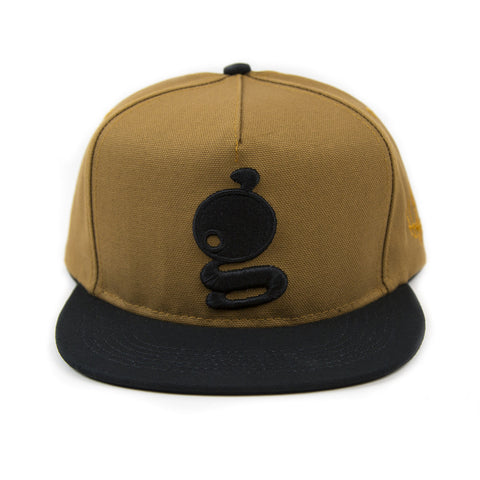 Grandeur 'g' Logo Structured Tan SnapBack  Hat