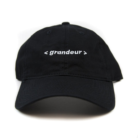Grandeur Black Bar Logo Polo Hat