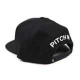 Grandeur Pitch In Structured Black SnapBack  Hat