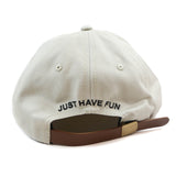 Just Have Fun Beige Classic Strapback Polo Hat