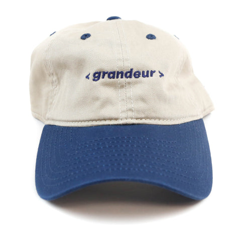 Grandeur Beige and Navy Bar Logo Polo Hat