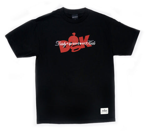 DGK x Grandeur Black and Red Collab T-Shirt