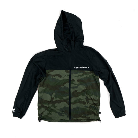 Grandeur Bar Logo Camouflage and Black Jacket