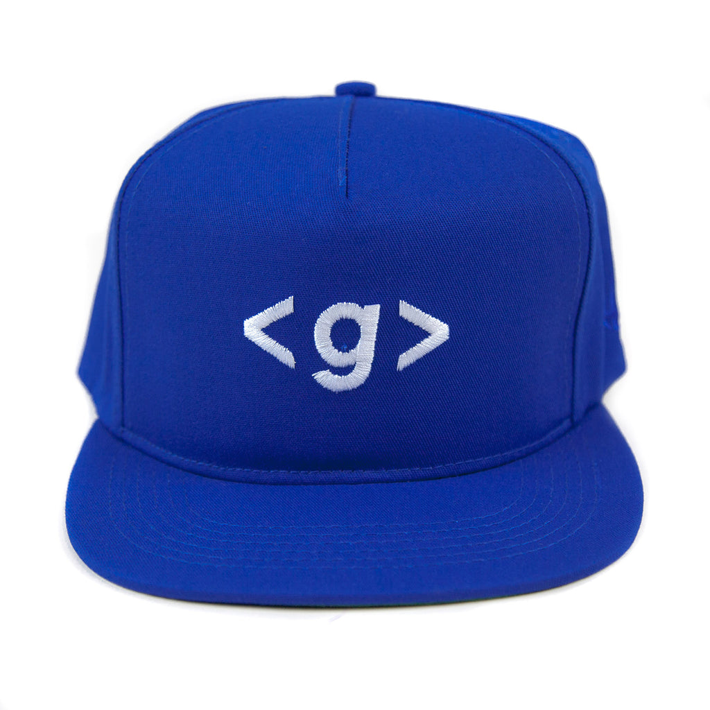 Grandeur Blue < g > Logo Structured SnapBack Hat