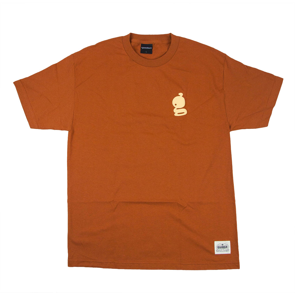 Grandeur 'g' Logo Orange T-Shirt