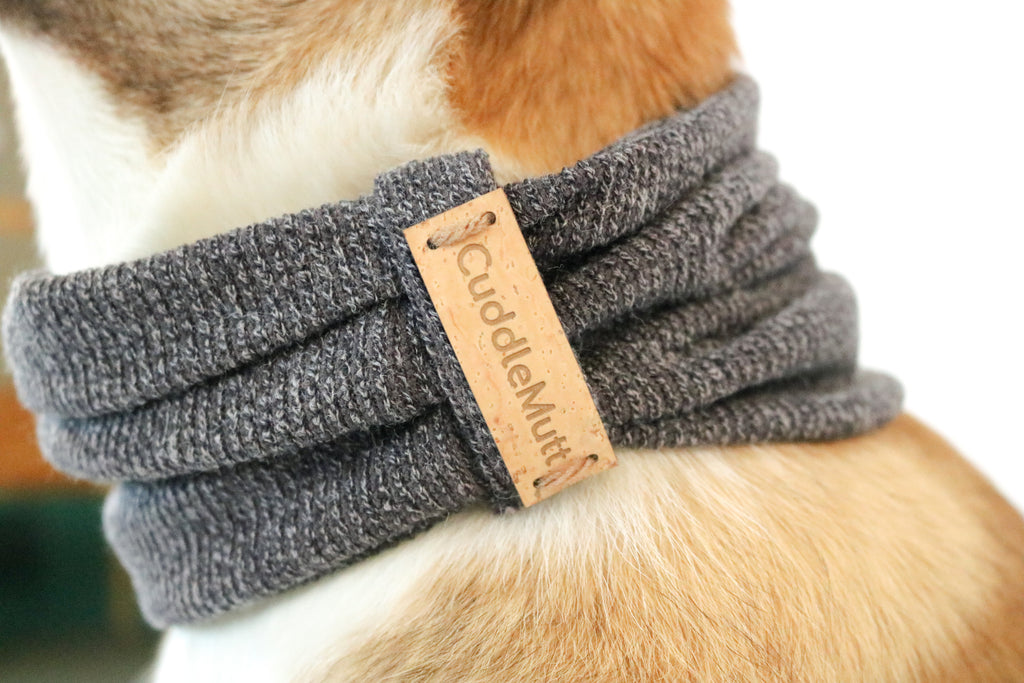 Grey Dog Scarf
