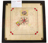 EkPuja Classic Carrom 32 x 32 Set with Board, Coins and Striker 4mm