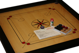 "EkPuja Classic Carrom 33 x 33 Set with Board, Coins and Striker - Carrom Board with 6mm thick 29"" x 29"" playing area with stunning rebound hard borders"